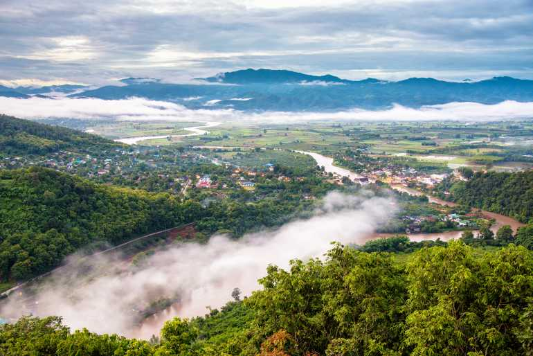 06 01 770 Thaton Thaton city in the morning with a mist shutterstock 252188350