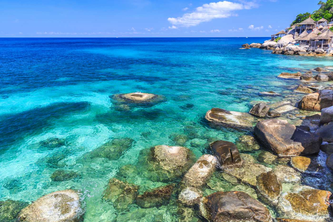 1400 Koh Tao crystal clear water Kho Tao shutterstock 142093519
