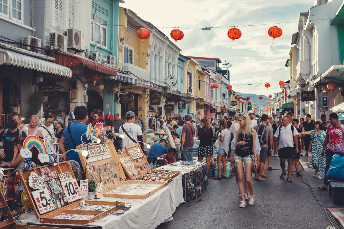 1400 Phuketweekend walking street Thalang road in Phuket Old Town shutterstock 1222250386