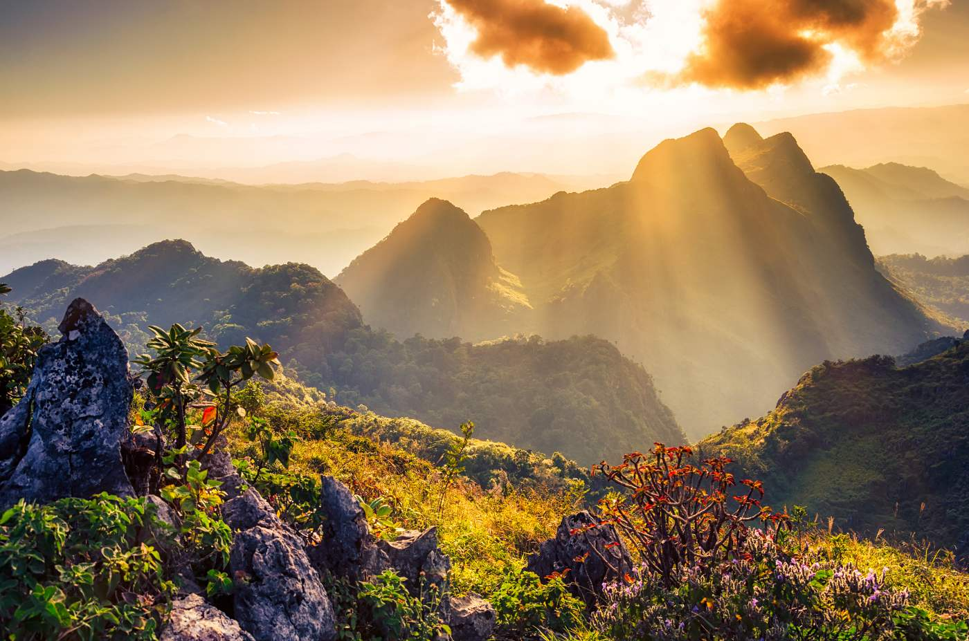1400 Raylight sunset Landscape at Doi Luang Chiang Dao shutterstock 249650512