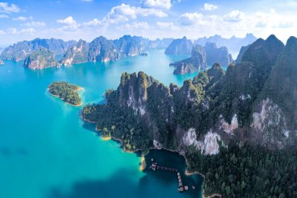 1600 erial view Beautiful lake of Ratchaprapha dam Khao Sok shutterstock 1098221042
